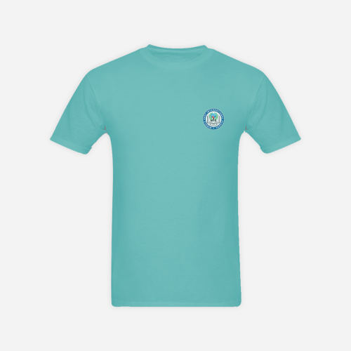 Light Blue R/n T- Shirt With Logo