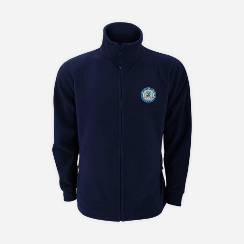 Navy Winter Fleece Jacket With Logo - Unisex